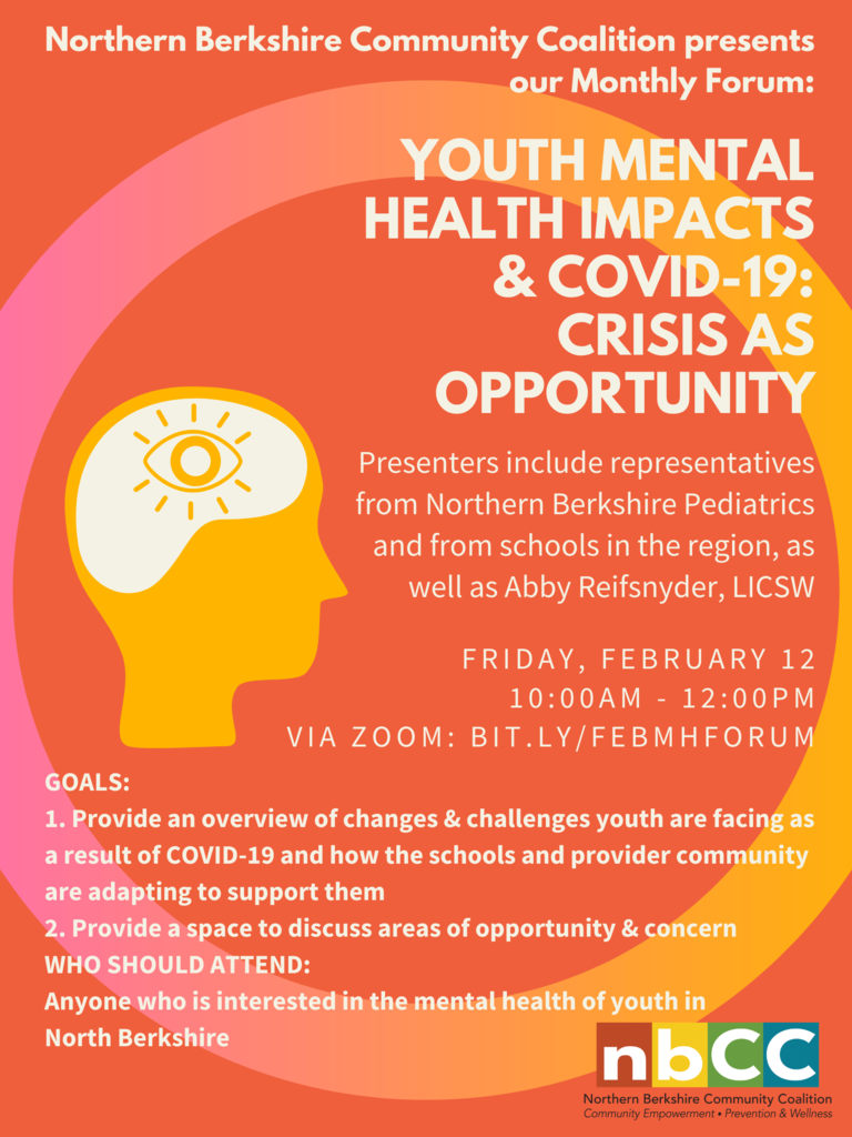 Youth Mental Health Impacts & COVID-19: Crisis as Opportunity flyer