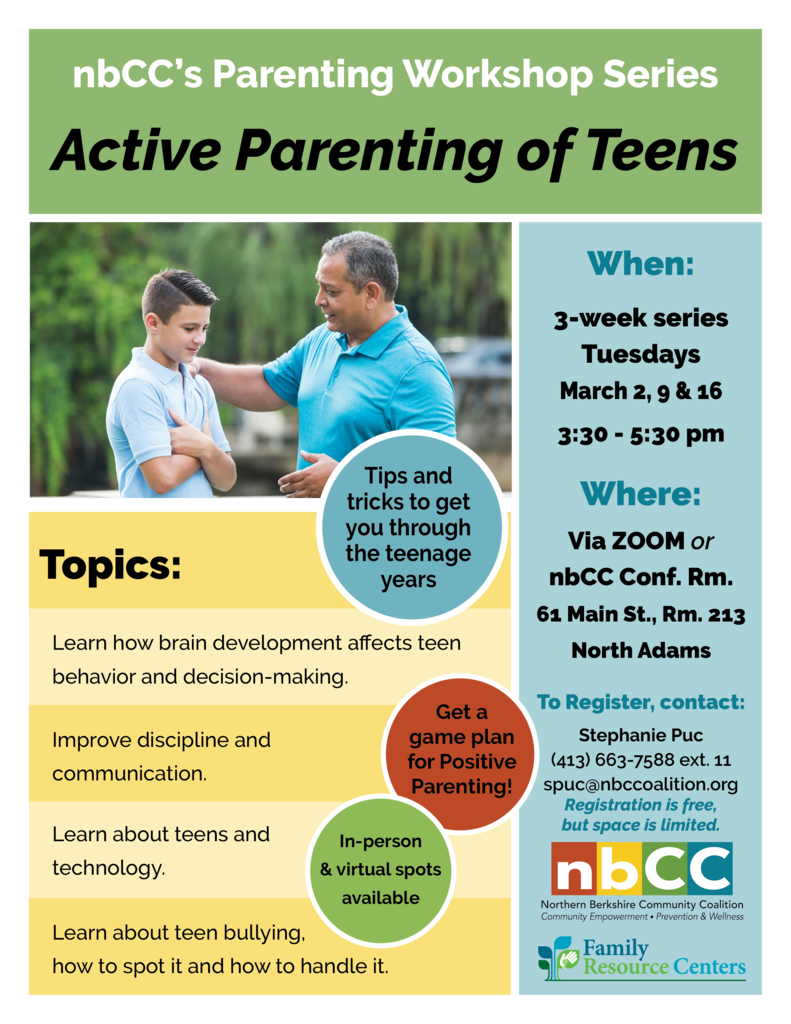 nbCC's Parenting Workshop Series: Active Parenting of Teens