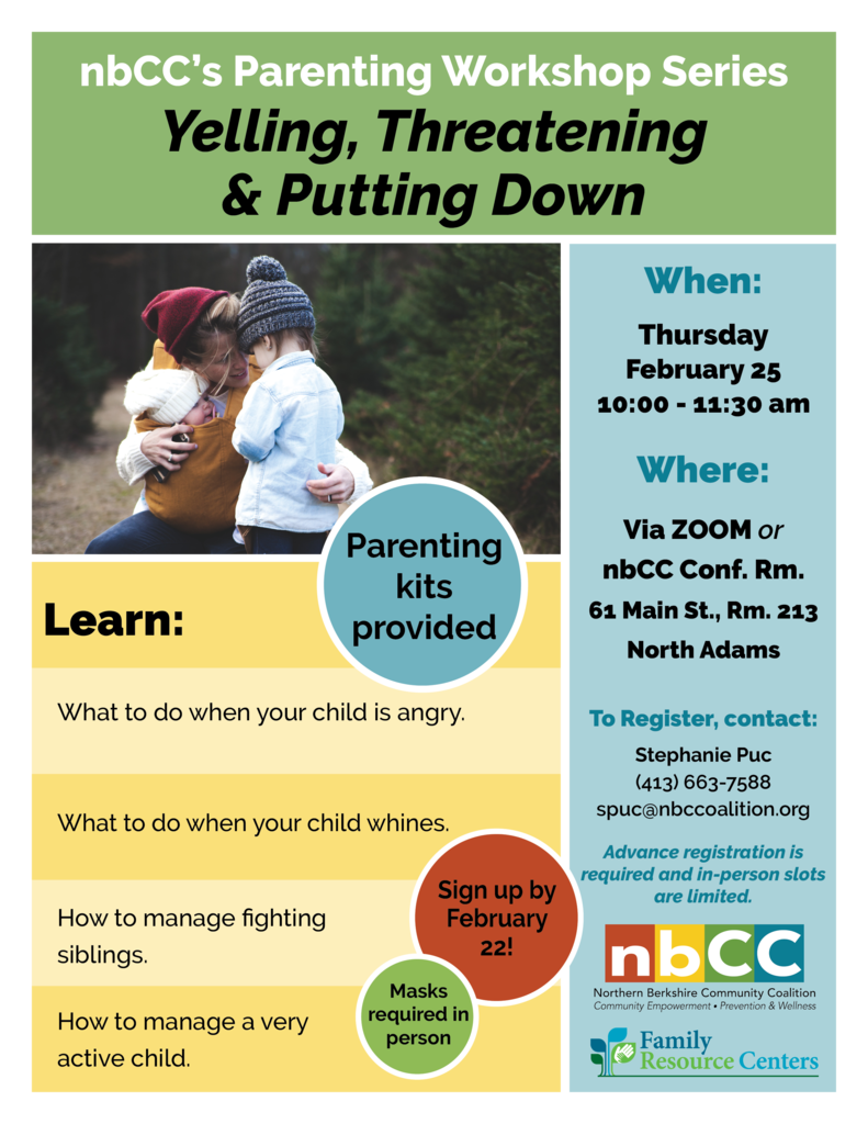 nbCC Parenting Workshop Series: Yelling, Threatening and Putting Down